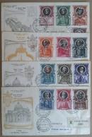 FDC Venetia Vaticano 1953 - Pontefici E Basiliche Di San Pietro - 4 Racc. Viagg. - Stamps