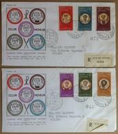 FDC Vaticano 1959 - Martiri Delle Persecuzioni Di Valeriano - 2 Racc. Viagg. - Briefmarken