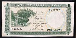 SIERRA LEONE 1 LEONE 1969 Pick#1b Lotto 757 - Sierra Leone