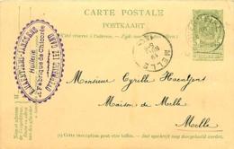Belgique. CPI 2 F  Overmeire > Melle  1905 - Autres