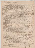 Lettre Fribourg Couvent Des Cordeliers 1941 Germain Morin OSB Tissot Professeur Lycée Annecy Césaire D'Arles - Vieux Papiers