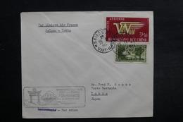 VIÊT NAM - Enveloppe 1er Vol Saïgon / Tokyo En 1952, Affranchissement Plaisant - L 33080 - Vietnam