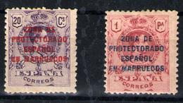 Marruecos Español Nº 75 Y 78. Año 1921/27 - Spanish Morocco