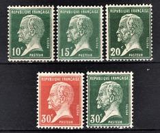 FRANCE 1922/26 - LOT / Y.T. N° 170 / 171 / 172 / 173 / 174 - NEUFS** - France