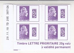 Au Plus Rapide Bloc Coin Daté 20.11.18 Marianne L'engagée 4 TVP International - 2018-... Marianne L'Engagée