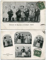 LOT 2 CPA * Souvenir Du ROYAUME De LILLIPUT à Paris - Spectacle
