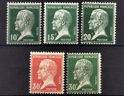 FRANCE 1922/26 - LOT / Y.T. N° 170 / 171 / 172 / 173 / 174 - NEUFS** - Francia