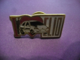 Pin's J'aime Ma Renault CLIO - Sans Défaut @ PINS 27 Mm X 13 Mm - Renault