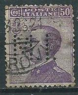 Timbre Italie Perforé MI - Usati