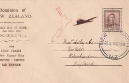 Nuova Zelanda,  Primo Volo 26/Giugno/ 1938. - Posta Aerea