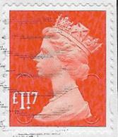 GB SG U2933a 2017 Machin £1.17 M17L MAIL Good/fine Used [36/30306/ND] - 1952-.... (Elisabetta II)