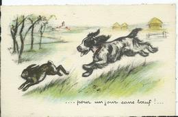 CARTE FANTAISIE - Illustration Germaine BOURET - Pour Un Jous Sans Boeuf - Bouret, Germaine