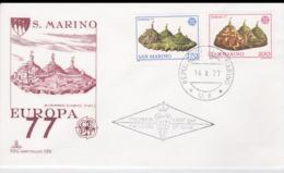 San Marino 1977 FDC Europa CEPT (G67-49) - Europa-CEPT