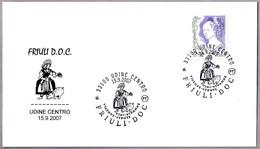 FERIA DEL VINO - WINE FAIR - FRIULI DOC. Cerdo - Pig. Udine 2007 - Vinos Y Alcoholes