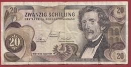 Autriche 20 Schillings Du 02/07/1967 Dans L 'état - Autriche