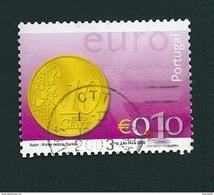 N° 2543 Introduction De L'EURO: Pièce De 10 Cents  Timbre Portugal Oblitéré 2002 - Oblitérés
