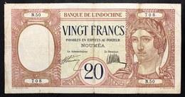 New Caledonia 20 Francs 1929 Pick#24 LOTTO.759 - Mauritania