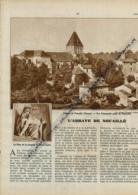 1942 : Document, ABBAYE DE NOUAILLE (Vienne), Logis Abbatial, Portail Du Prieuré D'Availles, Nef, Coeur, Jubé... - Vecchi Documenti