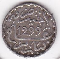 Maroc. 1/2 Dirham (1/20 RIAL) AH 1299 Paris. Hassan I, En Argent - Maroc