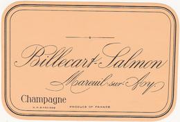 Rare Etiquette Champagne Billecart-Salmon à Mareuil-sur-Ay - Champagne