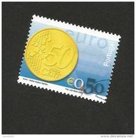 N° 2545  Pièce Euro 0,50€  Oblitéré Timbre Portugal 2002 - Oblitérés