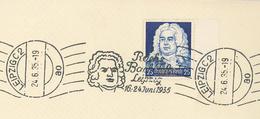 Maschinenstempel Leipzig C2 Georg Friedrich Händel Bach-Fest - Covers & Documents