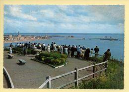 76. LE HAVRE / STE-ADRESSE - Table D'Orientation: L'entrée Du Paquebot FRANCE Dans Le Port Du Havre (animée) CPSM - Sainte Adresse