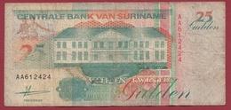 Surinam 25 Gulden  Du 09/07/1991 Dans L 'état - Surinam