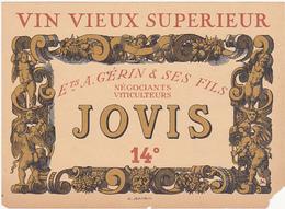 Ancienne Etiquette VIN VIEUX SUPERIEUR Ets A. GERIN & SES FILS JOVIS 14° (Anges, Angelots) - Etiquettes