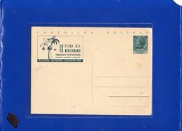 ##(DAN197)-Trieste A  1954-  Cartolina Postale L.20  IX Fiera Del Mediterraneo-Palermo - Nuova - Storia Postale