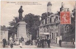 56. LORIENT. Perspective De La Préfecture Maritime. La Tour Du Port Et La Statue De Dupuy De Lôme. 6185 - Lorient