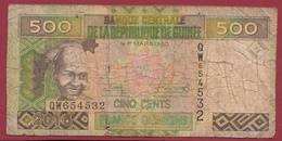 Guinée 500 Francs Guinéens Du 01/03/1980 Dans L 'état - Guinea