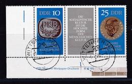 DDR, Nr. 1592/93 ZD DV, Gest. (K 4148h) - DDR