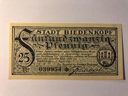 Allemagne Notgeld Biendenkopf 25 Pfennig - Collections
