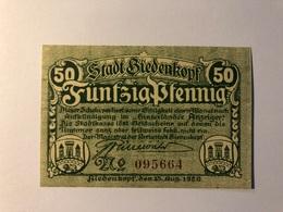 Allemagne Notgeld Biendenkopf 50 Pfennig - Collections