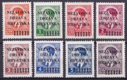 Croatia, Definitives, Overprint, 1941, Michel 1/8, MNH, Very Good Quality - Kroatien