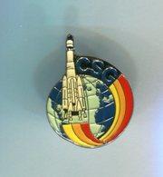 Pin's - CSG Centre Spatial Guyanais - Guyane Fusée Espace - Space