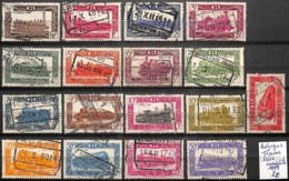 [830537]TB//O/Used-Belgique 1949 - Série Complète, Trains, Transports - Trains