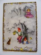 BUON NATALE  NOEL      FOLLETTO    POSTCARD USED    CONDITION PHOTO FORMATO  GRANDE - Natale