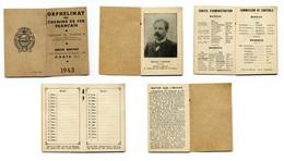 Calendrier 1943 - Orphelinat Des Chemins De Fer Français - Calendarios