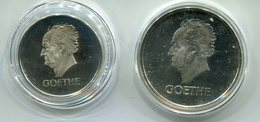 4748 - DEUTSCHES REICH - 3 + 5 RM GOETHE - 2 Repliken In Sterlingsilber - Münzen