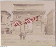 Au Plus Rapide Photo Montpellier 25 Mai 1899 Porte Du Peyrou - Photos