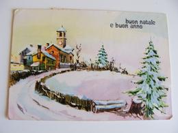 BUON NATALE  NOEL   E BUON  ANNO     POSTCARD USED    CONDITION PHOTO FORMATO  GRANDE - Natale