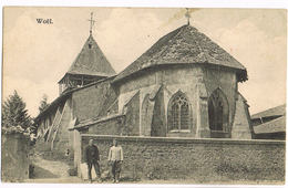 Feldpost-AK Woël, Kirche Im 1. Weltkrieg - France