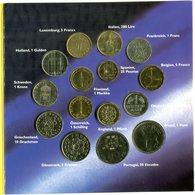 4749 - EUROPA - Kursmünzen Europas - 15 Länder Im Folder - Monnaies