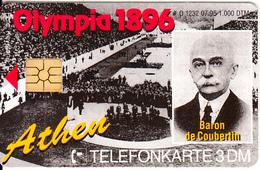 GERMANY - 100 Jahre Olympia 1/1896 Athen-Baron De Coubertin(O 1232), Tirage 1000, 07/95, Mint - O-Series : Séries Client