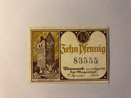Allemagne Notgeld Bismark 10 Pfennig - Collections