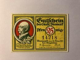 Allemagne Notgeld Bismark 25 Pfennig - Collections