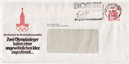 Postal History: Germany Cover With Olympic Games Cachet And BOREK Cancel - Estate 1980: Mosca