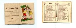 Calendrier 1938 - Chocolatier A Garçon à Bourbon L'Archambault (Allier) - Klein Formaat: 1921-40